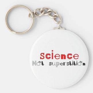 Superstición de la ciencia no llavero redondo tipo pin