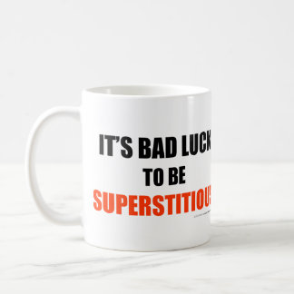 Supersticioso Taza Clásica