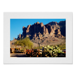 Superstition Mountain - Goldfield View Poster