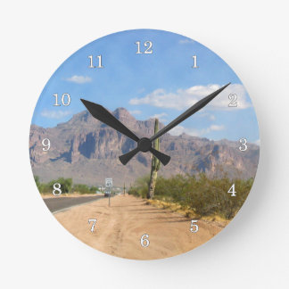 Superstition Mountain - Panoramic Round Clock