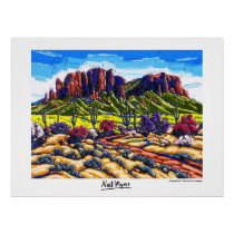 Superstition Mountains Majesty Poster