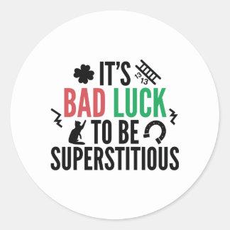 Superstitious Classic Round Sticker