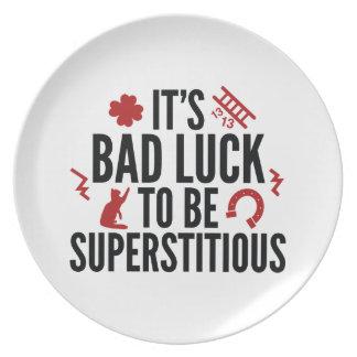 Superstitious Melamine Plate