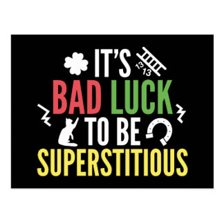 Superstitious Postcard