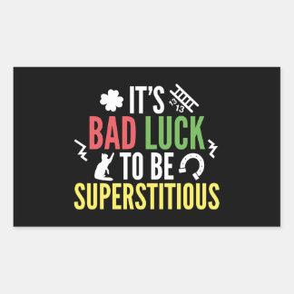 Superstitious Rectangular Sticker