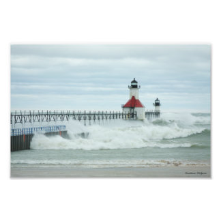 Superstorm Sandy St. Joesph Michigan Print