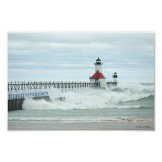 Superstorm Sandy St. Joesph Michigan Print Photo Print
