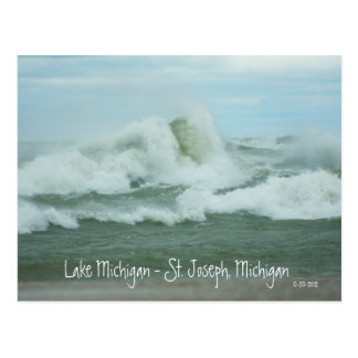 Superstorm Sandy Waves on Lake Michigan Postcard