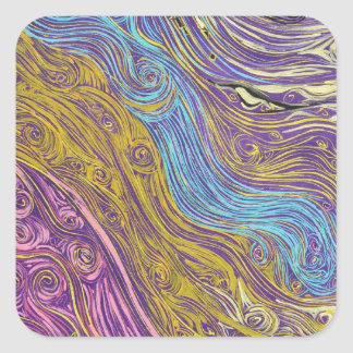 Superstrings Aflowing # 1026.JPG Square Sticker