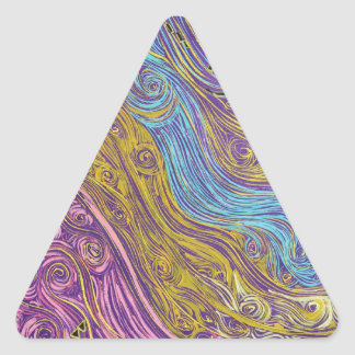 Superstrings Aflowing # 1026.JPG Triangle Sticker