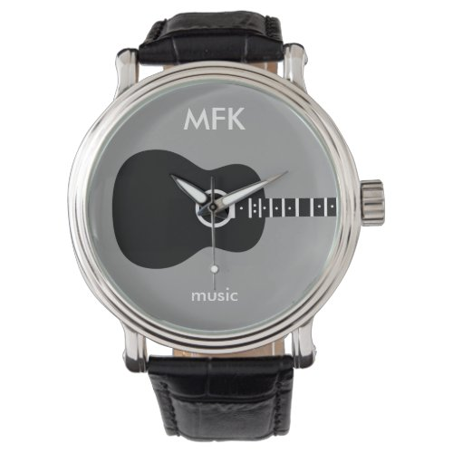 superstylish custom acoustic guitar wrist watch