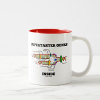 Supertaster Genes Inside (DNA Replication) Two-Tone Coffee Mug