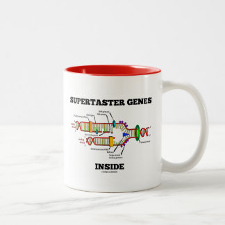 Supertaster Genes Inside (DNA Replication) Two-Tone Coffee Mug