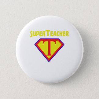 Superteacher Superhero Funny Teacher Gift Pinback Button