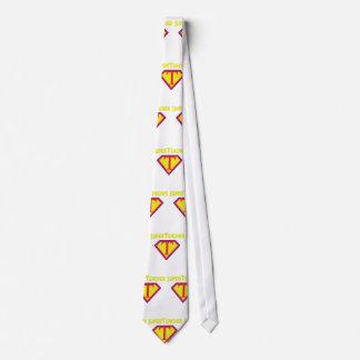 Superteacher Superhero Funny Teacher Gift Tie