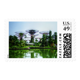 Supertrees and dragonfly lake postage stamps