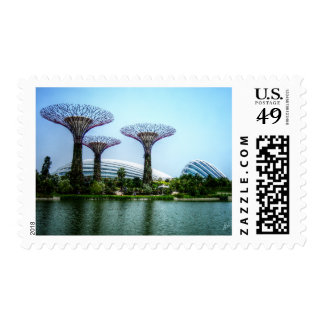 Supertrees greenhouse and dragonfly lake stamps