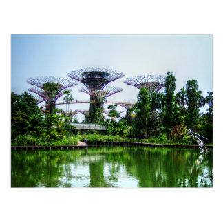Supertrees y lago de la libélula postales