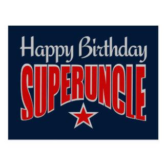 SUPERUNCLE Birthday postcard