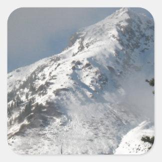 Supervise a Ridge en el lago mount Saint Helens a Pegatina Cuadrada