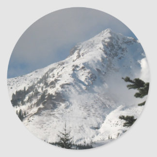 Supervise a Ridge en el lago mount Saint Helens a Pegatina Redonda
