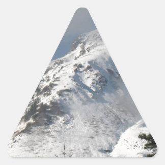 Supervise a Ridge en el lago mount Saint Helens a Pegatina Triangular