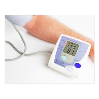 Supervisión de la presión arterial tarjeta postal