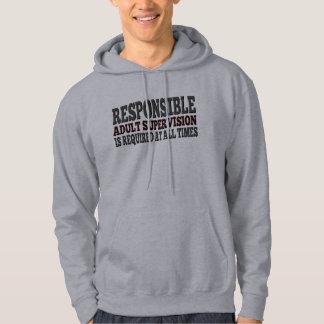 Supervisión del adulto responsable requerida suéter con capucha