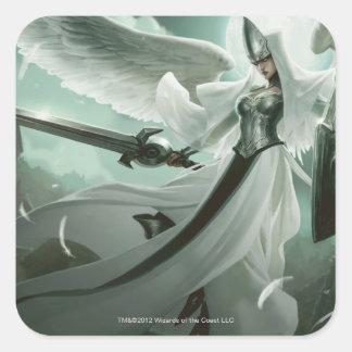 Supervisor angelical pegatina cuadrada