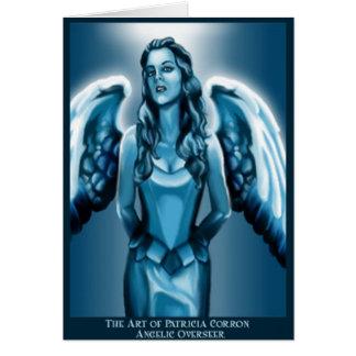Supervisor angelical tarjeta de felicitación