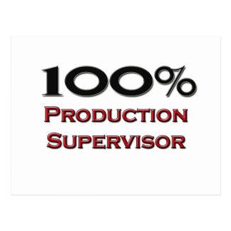 Supervisor de la producción del 100 por ciento postales
