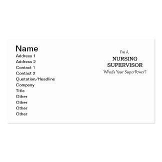 Supervisor del oficio de enfermera tarjetas de visita