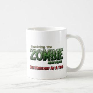 Supervivencia de la apocalipsis del zombi taza
