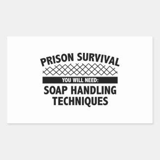 Supervivencia de la prisión pegatina rectangular