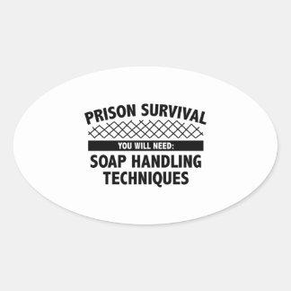 Supervivencia de la prisión pegatina ovalada