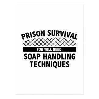 Supervivencia de la prisión tarjeta postal