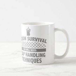 Supervivencia de la prisión tazas de café
