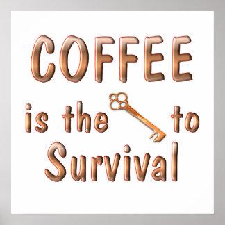 Supervivencia del café impresiones