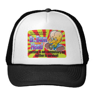 Supervivencia, el Dr. Bum Head Gorros Bordados