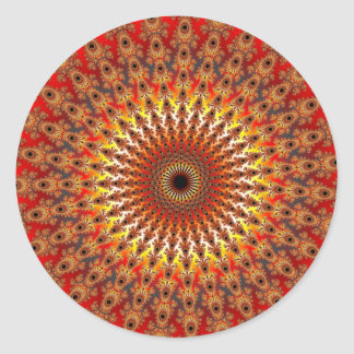 Supervivencia - fractal pegatina redonda