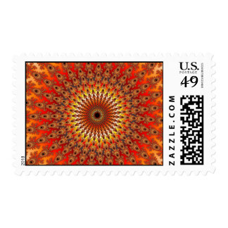 Supervivencia - fractal sello postal