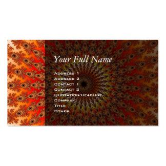 Supervivencia - fractal tarjetas de visita