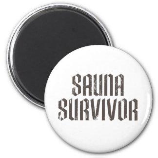 Superviviente 01 de la sauna imán de nevera