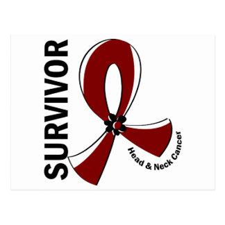 Superviviente 12 del cáncer de cabeza y cuello tarjetas postales
