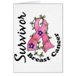 Superviviente 15 del cáncer de pecho tarjetas