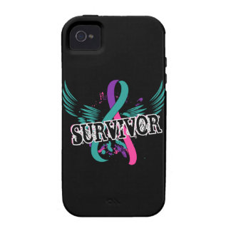Superviviente 16 del cáncer de tiroides iPhone 4 funda