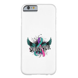Superviviente 16 del cáncer de tiroides funda para iPhone 6 barely there