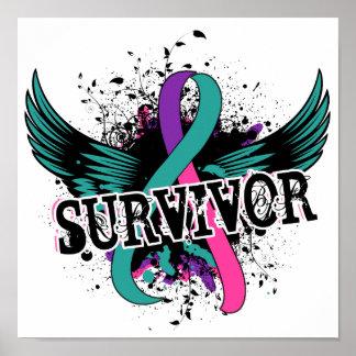 Superviviente 16 del cáncer de tiroides poster