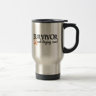 Superviviente 18 del cáncer endometrial taza de café