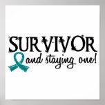 Superviviente 18 del cáncer ovárico impresiones